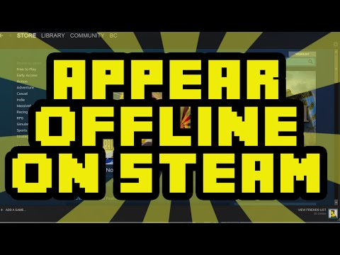 How To Appear Offline On Steam 2017 - Steam Appear Offline To Your Friends Tutorial