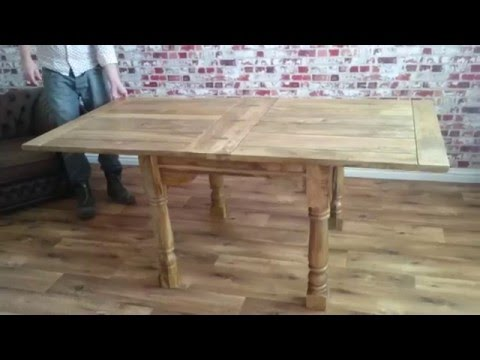 Extending Rustic Dining Table in Action!