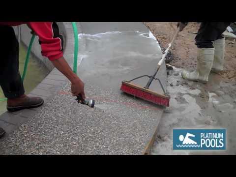 Platinum Pools - Making Pea Gravel