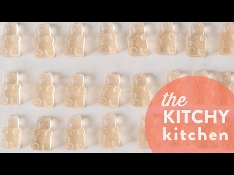 Rosé + Champagne Gummy Bears // The Kitchy Kitchen