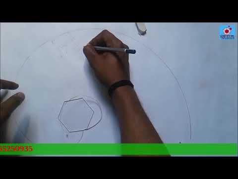 envolute of regular hexagon with practical demonstration & solved problem.