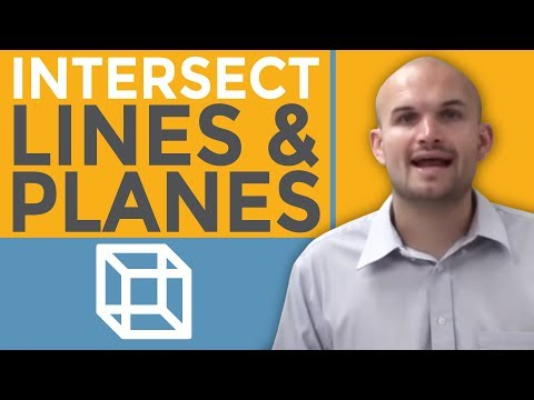 What does the intersection of lines and planes produce