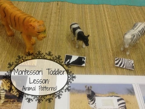 Montessori Toddler Learning Lesson - Animal Patterns (w FREE printables)