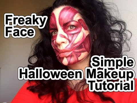 Halloween Makeup Tutorial - Freaky Face Muscles under Skin