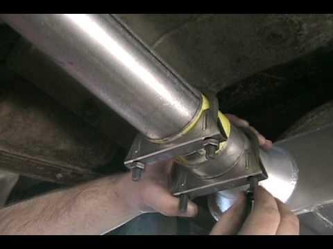 Installing Exhaust Clamp