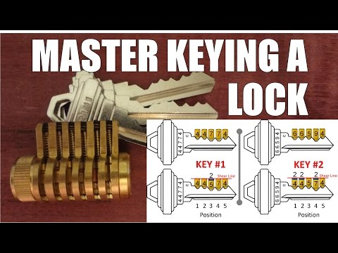 How to Master Rekey a Schlage deadbolt changing the combination of a pin tumbler lock using two keys