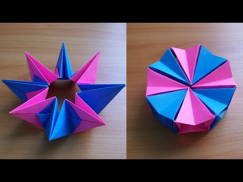 DIY How To Fold an Easy Origami Magic Circle Fireworks. Fun Paper Toy Not Only For Kids
