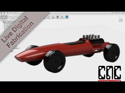 Design and 3D CNC 100s of Pinewood Derby Cars in one weekend!