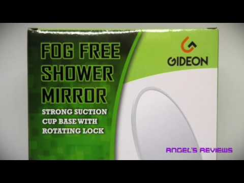 Gideon Fogless Shower Mirror with Strong Suction-Cup Mounting Base