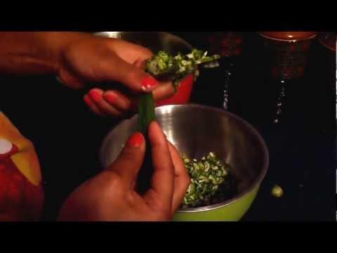 Chopping okra by FreeFlowFoodie