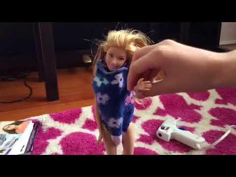 Diy gymnast leotard for Barbie Doll