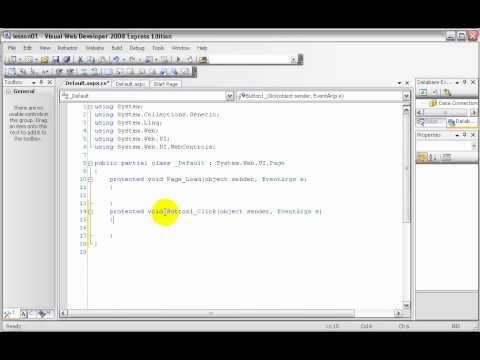 csharp(Asp.Net) Tutorial in tamil part - 1 (1st Hour)