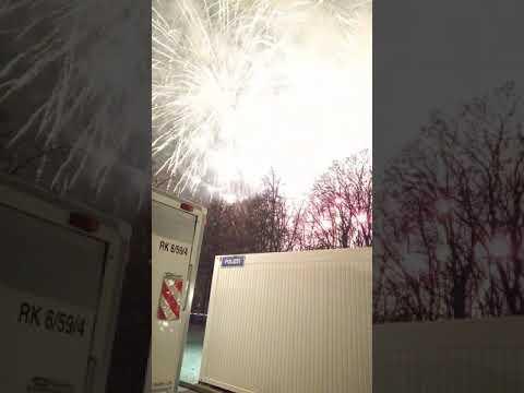 Most close up NYE fireworks in Berlin Brandenburg Gate