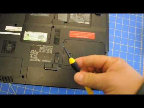 How to remove hard drive from Dell Inspiron B130 HD Laptop