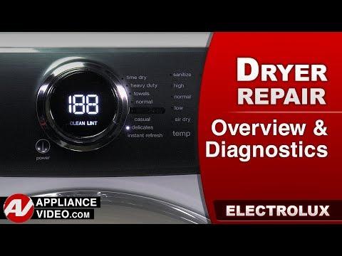 Electrolux Dryer - Overview, Diagnostics, Error codes & Technician service mode