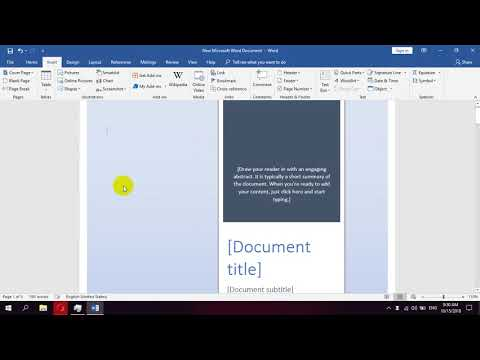 How to insert cover page in Microsoft Word
