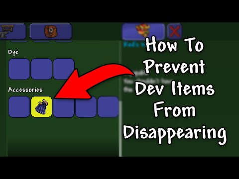 Terraria 1.2.4 Android - How To Make Dev Items Stay In Your Inventory (No Root)