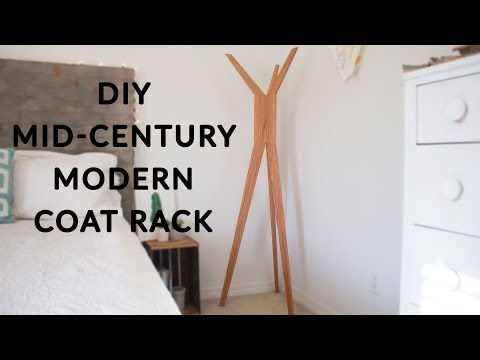 Mid-Century Modern Coat Rack | How To Make
