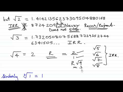 Irrational numbers - Introduction