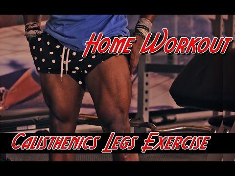 Home Calisthenics Legs Workout | Ripped Legs!