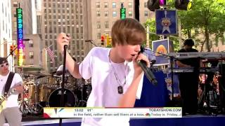 Justin Bieber - Never Say Never (Today Show 2010 06 04) HD