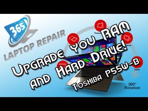 Upgrade the Hard Drive and RAM on the Toshiba P55W-B!