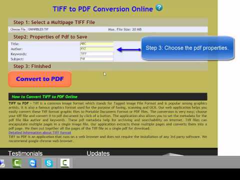 Tiff to Pdf Conversion Online