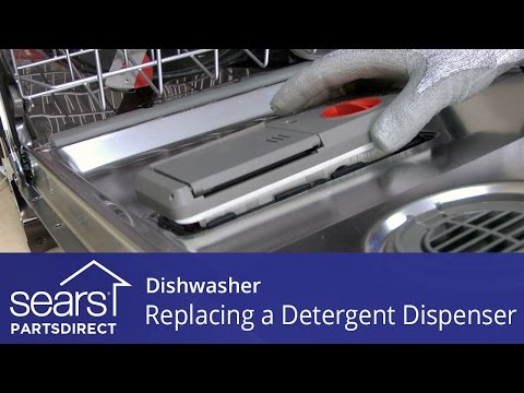 Replacing the Detergent Dispenser on a Dishwasher