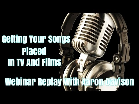 Getting Your Songs Placed In TV And Films
