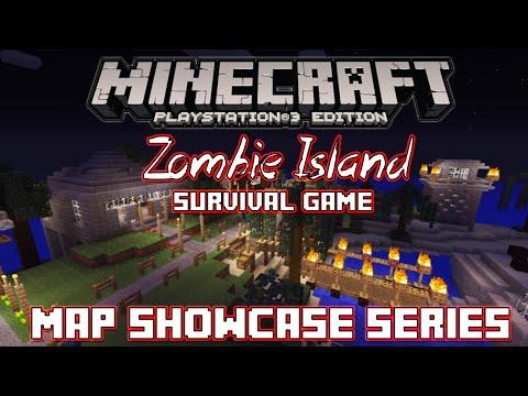 PS3 Minecraft Map Showcase: Episode 27: Zombie Island (Dead Island) Survival Game