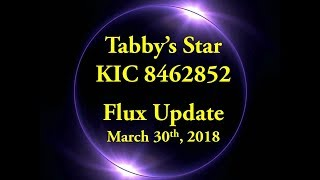 Tabby's Star KIC 8462852 Flux Update for March 30, 2018