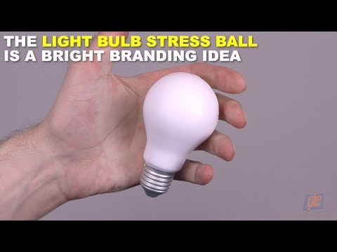 The Light Bulb Stress Ball Is a Bright Branding Idea