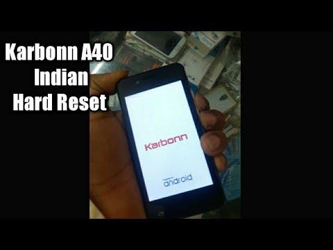 karbonn A40 indian hard reset pattern unlock 4g