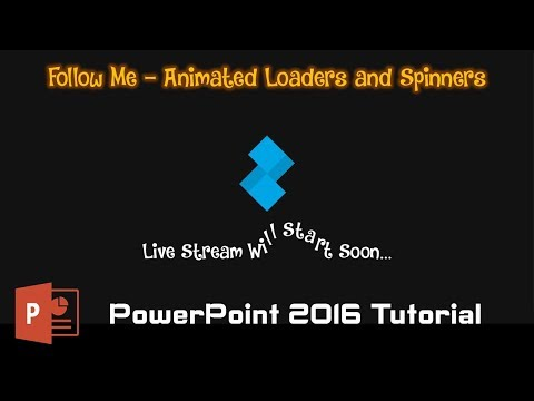 Follow Me | Animated Loader With Motion Blur in PowerPoint 2016 Tutorial