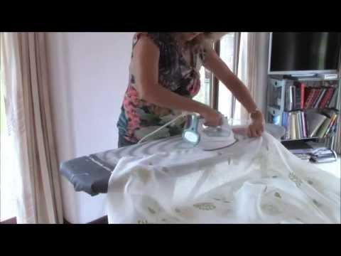 HOW TO MAKE VOILE CURTAINS