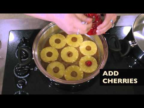 How to make a pineapple upside down cake...on the stove!