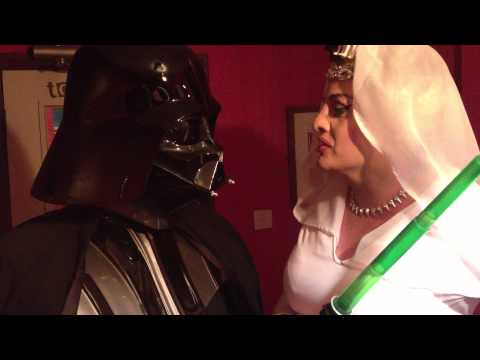 Stephanie Starlet and Darth Vader having a tiff