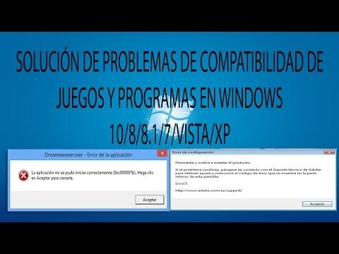 SOLUCIÓN DE PROBLEMAS│COMPATIBILIDAD DE JUEGOS Y PROGRAMAS │WINDOWS  10/8/8.1/7/VISTA/XP(MEGA)2016