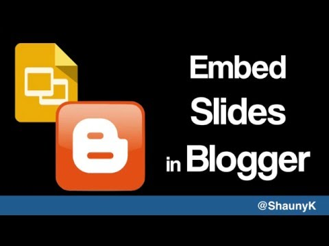 Embed Google Slides in Blogger