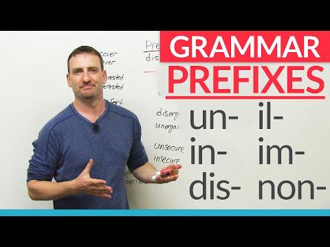 English Grammar: Negative Prefixes -