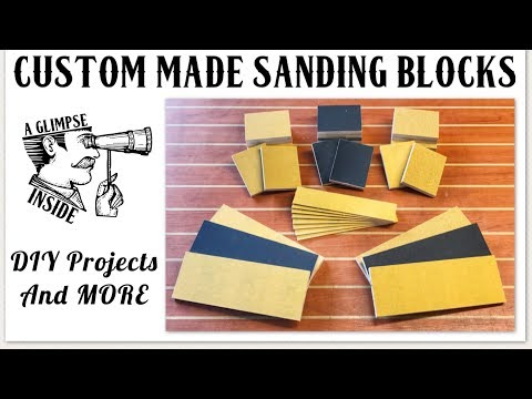 How to make Custom Sanding Blocks | Woodworking | Diy Project