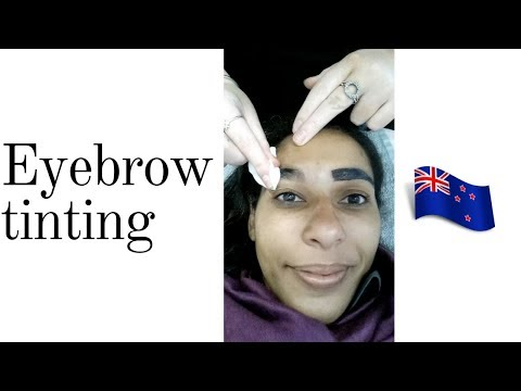 First time getting my eyebrows tinted | New Zealand