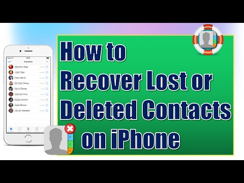How to Restore Contacts on iPhone for Free