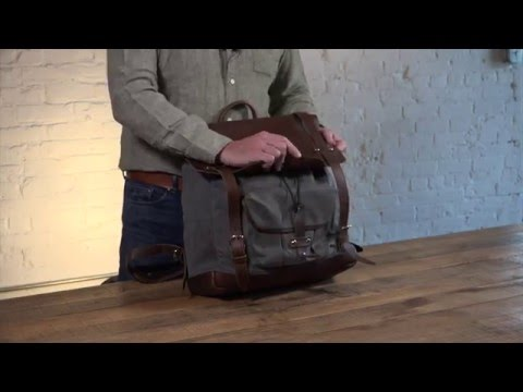 Crafted Canvas and Leather Laptop Backpack | Pad & Quill Large Laptop Backpack Review