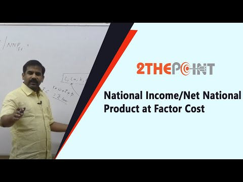National Income/Net National Product at Factor Cost