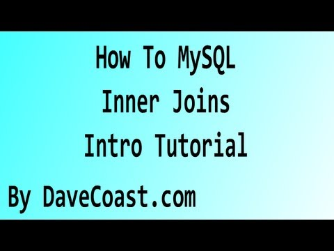 How To MySQL - Inner Joins - Intro Tutorial - HD Video