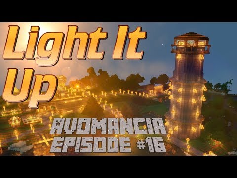 Minecraft Lets Play: How to make a Lighthouse in Minecraft | BIG Build Time in Avomancia Ep16