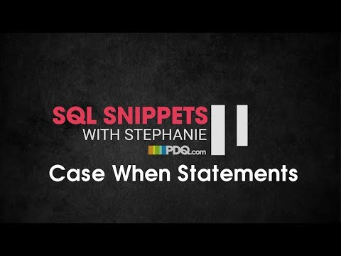 SQL Snippets: Case When Statements