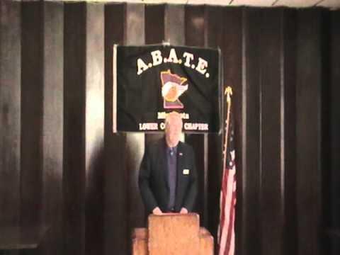 Scott Eggert President of the Lower Corner Chapter Abate MN