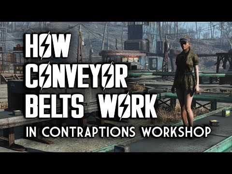 How Conveyor Belts Work - Conveyor Belt Tutorial for Contraptions Workshop - Fallout 4